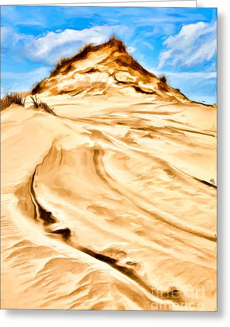 Beach Decor Framed Prints Greeting Cards - King of Dunes 2 Outer Banks II Greeting Card by Dan Carmichael