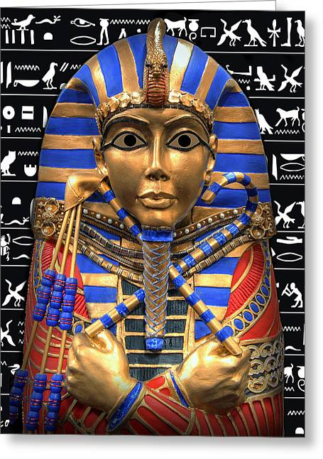 Pharaoh Digital Art Greeting Cards - KING of EGYPT Greeting Card by Daniel Hagerman