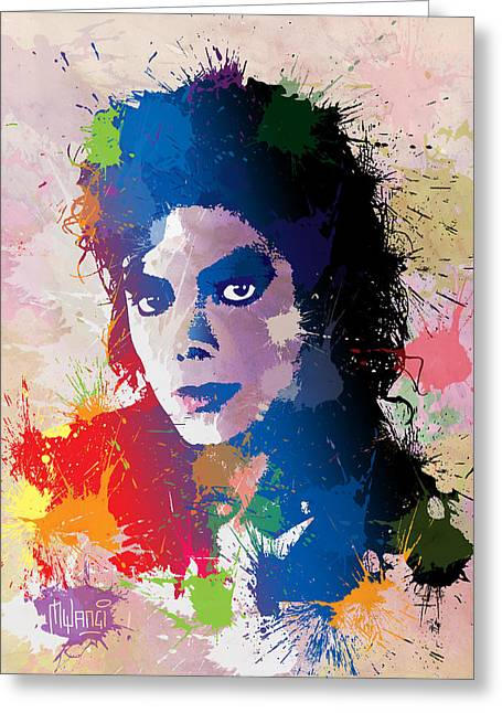 Mj Digital Greeting Cards - King of Pop Greeting Card by Anthony Mwangi