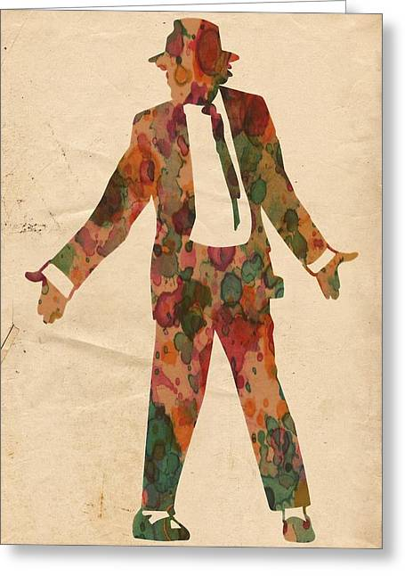 King Of Pop In Concert No 1 Greeting Card by Florian Rodarte