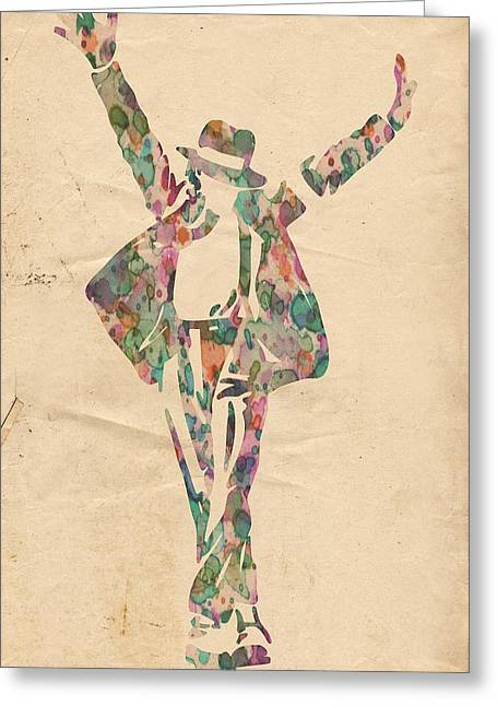 Michael Jackson Greeting Cards - King of Pop In Concert no 11 Greeting Card by Florian Rodarte