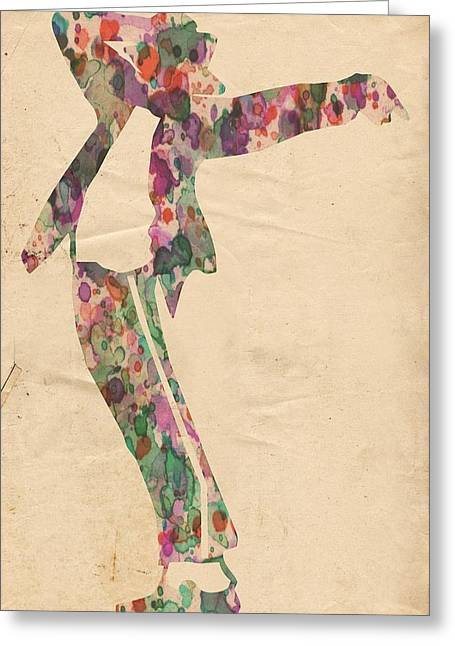 King Of Pop In Concert No 13 Greeting Card by Florian Rodarte