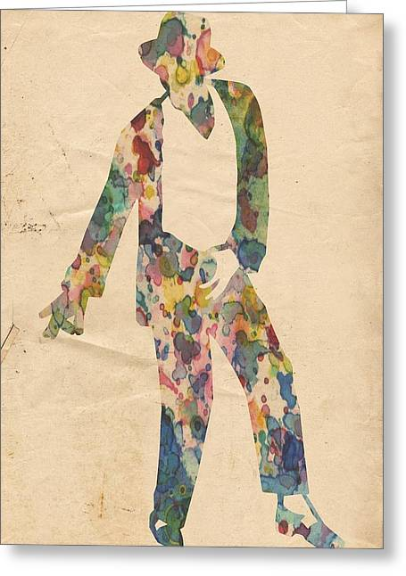 Mj Greeting Cards - King of Pop In Concert no 14 Greeting Card by Florian Rodarte