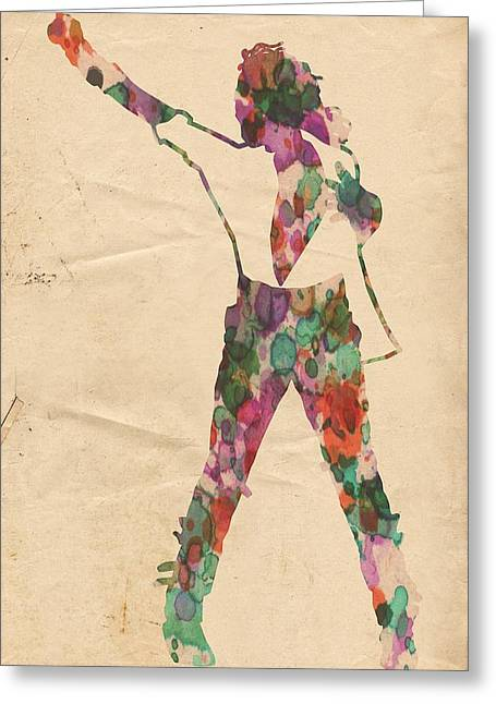 King Of Pop In Concert No 2 Greeting Card by Florian Rodarte