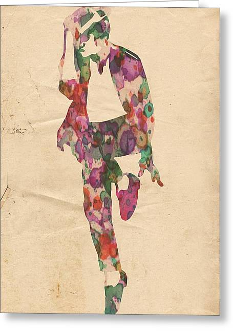 Legendary Songs Greeting Cards - King of Pop In Concert no 3 Greeting Card by Florian Rodarte