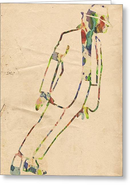 King Of Pop In Concert No 4 Greeting Card by Florian Rodarte