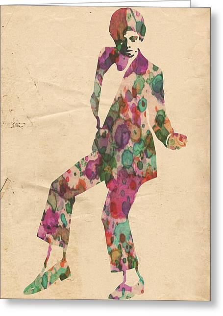 Recently Sold -  - Mj Digital Art Greeting Cards - King of Pop In Concert no 5 Greeting Card by Florian Rodarte