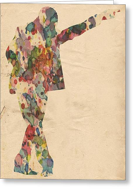 King Of Pop In Concert No 7 Greeting Card by Florian Rodarte