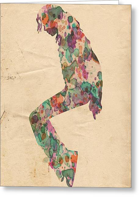 Michael Jackson Greeting Cards - King of Pop In Concert no 8 Greeting Card by Florian Rodarte