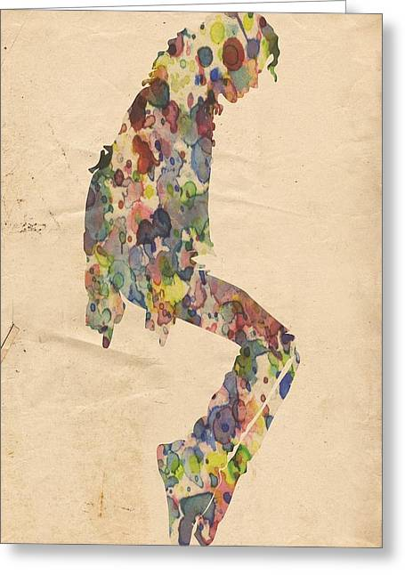 Mj Greeting Cards - King of Pop In Concert no 9 Greeting Card by Florian Rodarte