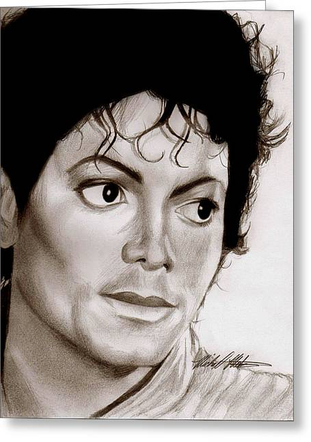 Beat It Greeting Cards - King of Pop Greeting Card by Michael Mestas