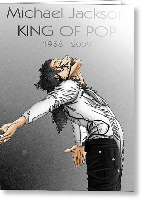 Man In The Mirror Greeting Cards - King of Pop Greeting Card by Rachel Martinez