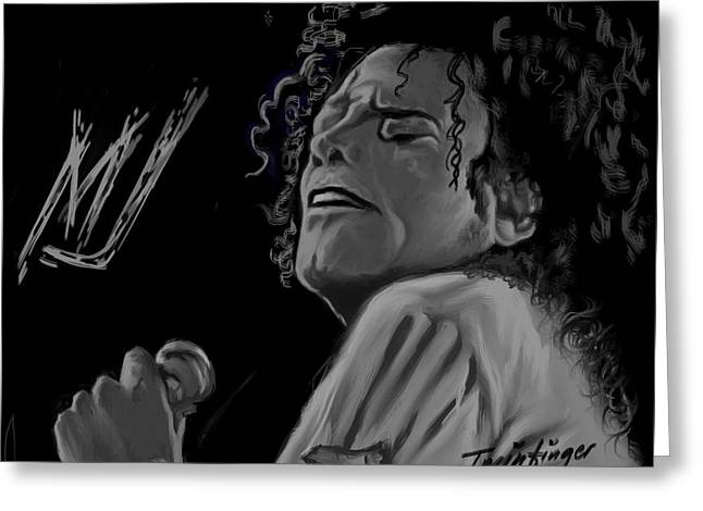 Mj Digital Greeting Cards - King Of Pop Greeting Card by Twinfinger