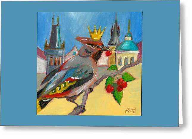 Prague Paintings Greeting Cards - King of Prague Greeting Card by Susan Thomas
