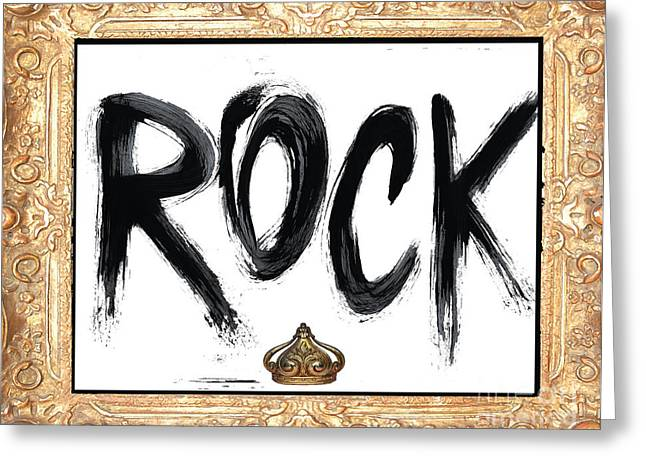 Teen Licensing Greeting Cards - King of Rock Greeting Card by Anahi DeCanio
