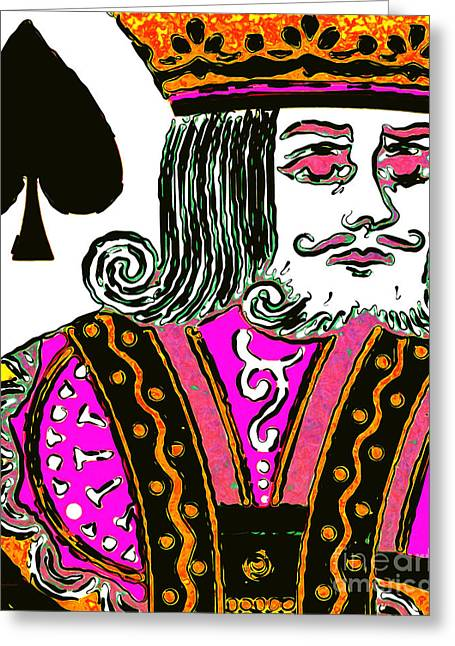 Deck Of Cards Greeting Cards - King of Spade 20140812 Greeting Card by Wingsdomain Art and Photography
