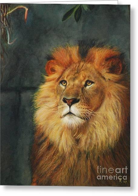 King Of Taronga - Watercolor Greeting Card by GD Rankin