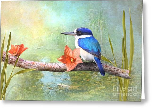 Fishing Creek Digital Greeting Cards - King of the Blues Greeting Card by Trudi Simmonds
