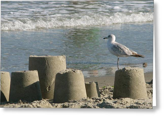 Recently Sold -  - Sand Castles Greeting Cards - King of the Castle Greeting Card by Parvaneh Mireille