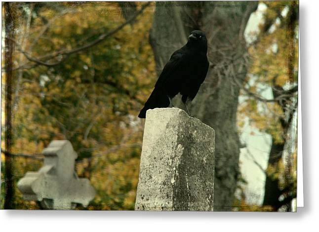 Gothicrow Greeting Cards - King Of The Graveyard Greeting Card by Gothicolors Donna Snyder