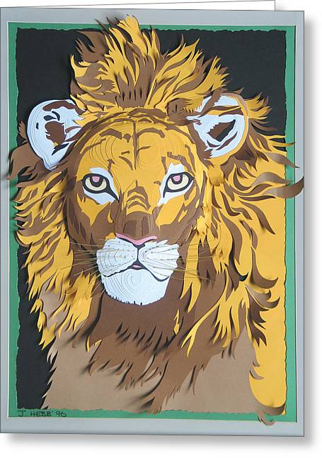Proud Sculptures Greeting Cards - King Of The Jungle Greeting Card by John Hebb