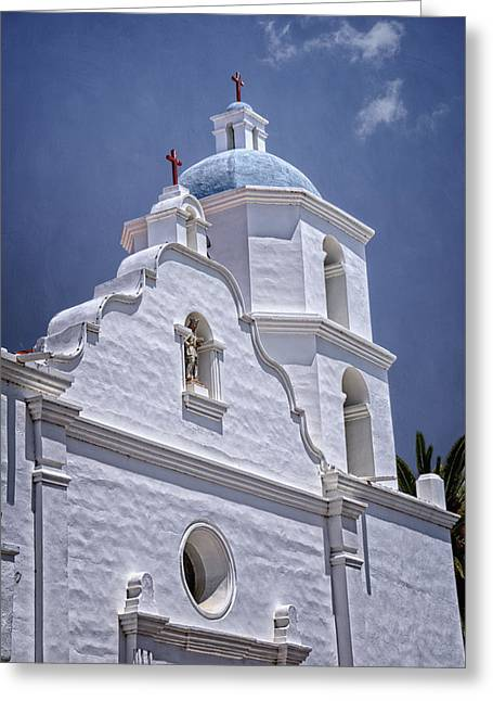 King Of The Missions Greeting Card by Joan Carroll