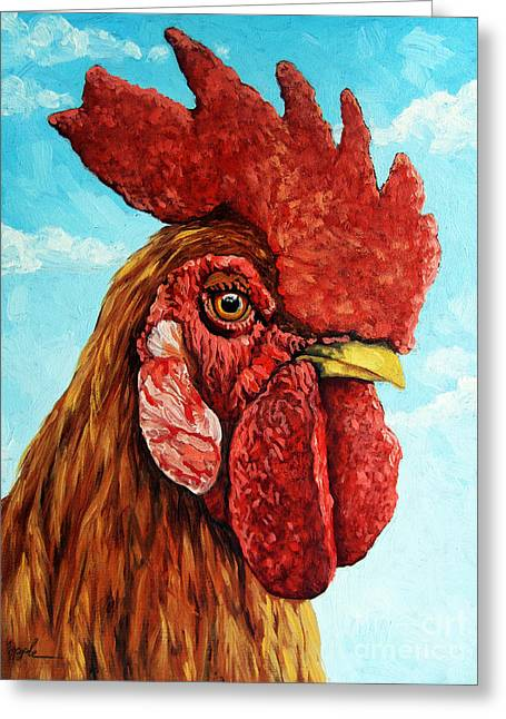 King Of The Roost Greeting Card by Linda Apple