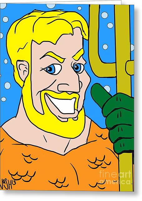 Aquaman Greeting Cards - King of the Seven Seas Greeting Card by Jeremy Nash