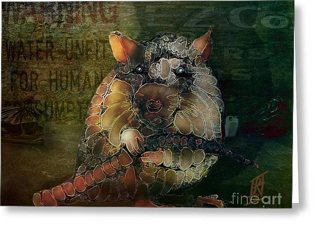 Survivor Art Greeting Cards - King of the Sewers 2090 Greeting Card by Rosy Hall