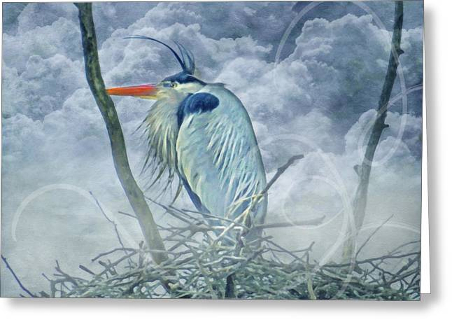 Great Birds Mixed Media Greeting Cards - King Of The Sky Greeting Card by Georgiana Romanovna