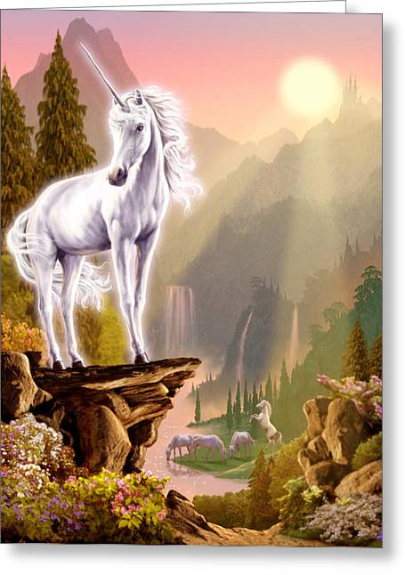 Fantasy Creature Photographs Greeting Cards - King of the Valley Greeting Card by Garry Walton