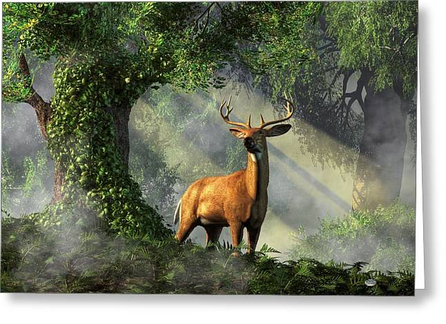 Harts Digital Greeting Cards - King of the Woods Greeting Card by Daniel Eskridge