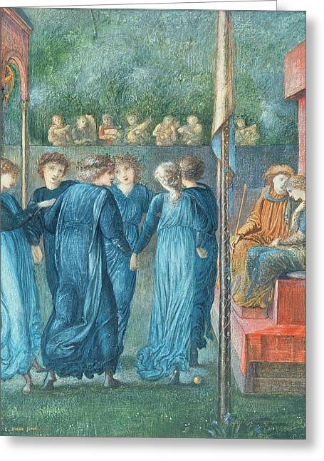Dance Photographs Greeting Cards - King Renes Wedding, 1870 Oil On Canvas Greeting Card by Sir Edward Coley Burne-Jones