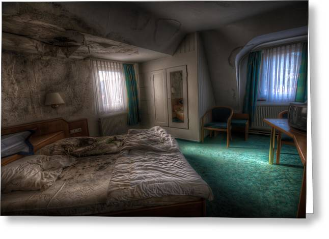 Haunted House Digital Greeting Cards - King size bed Greeting Card by Nathan Wright