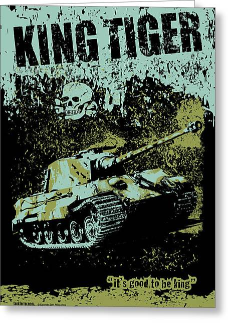Tank Battalions Greeting Cards - King Tiger 334 Greeting Card by Philip Arena