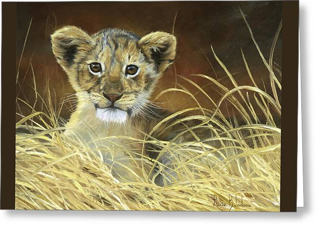 Lion Greeting Cards - King To Be Greeting Card by Lucie Bilodeau