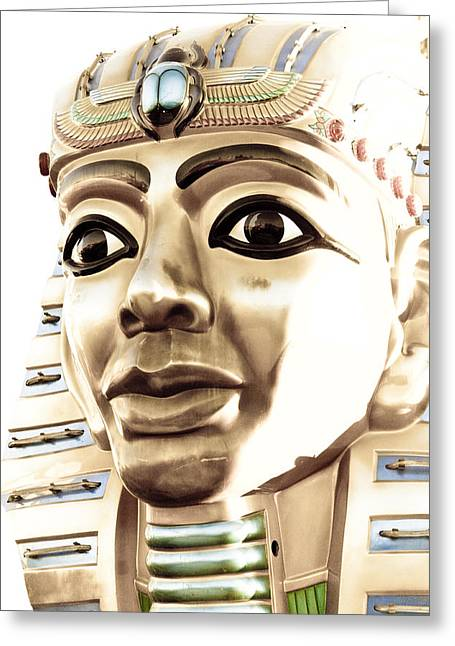 Scarab Greeting Cards - King Tut Greeting Card by Caitlyn  Grasso
