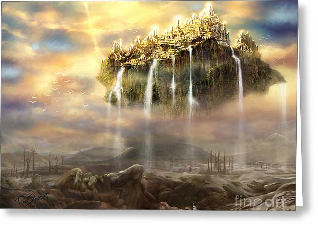 Biblical Art Greeting Cards - Kingdom Come Greeting Card by Tamer and Cindy Elsharouni