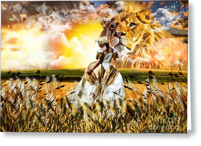 Kingdom Of Heaven Greeting Cards - Kingdom Gold Greeting Card by Dolores Develde