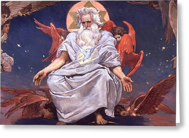 Vasnetsov Greeting Cards - Kingdom of God Greeting Card by Viktor Mikhaylovich Vasnetsov