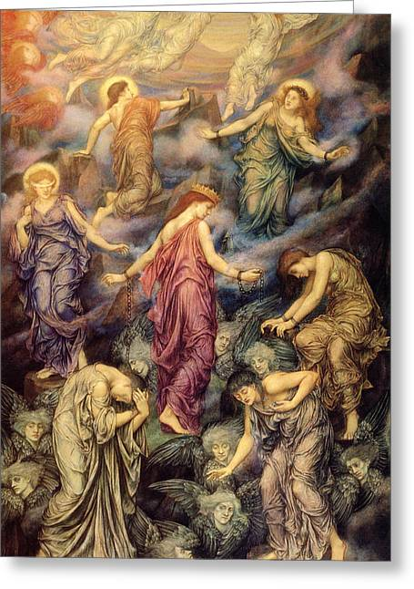 Evelyn De Greeting Cards - Kingdom of Heaven and Hell Greeting Card by Evelyn de Morgan