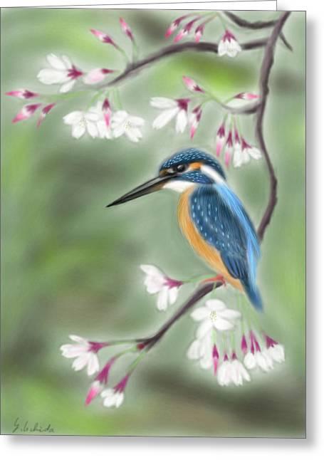 Yoshiyuki Uchida Greeting Cards - Kingfisher 19 Greeting Card by Yoshiyuki Uchida