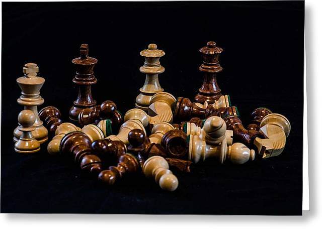 Chess Piece Paintings Greeting Cards - Kings and Queens Greeting Card by Alan Goldberg