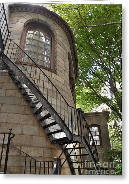 Cobbs Hill Greeting Cards - Kings Chapel Staircase Greeting Card by Deborah Smolinske
