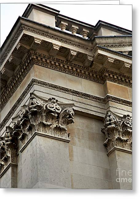 Classical Style Greeting Cards - Senate House Architectural Details Greeting Card by Eden Baed
