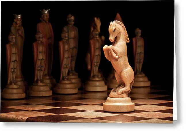 Chessman Greeting Cards - Kings Court II Greeting Card by Tom Mc Nemar