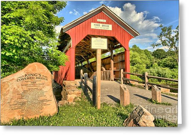 Covered Bridge Greeting Cards - Kings Covered Bridge Greeting Card by Adam Jewell
