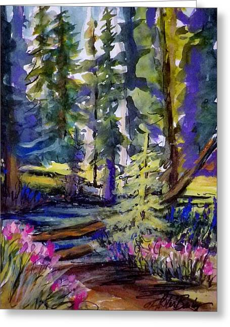 Therese Fowler-bailey Greeting Cards - Kings Creek Meadow Greeting Card by Therese Fowler-Bailey