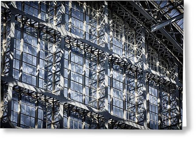 Iron Greeting Cards - Kings Cross St Pancras Windows Greeting Card by Joan Carroll