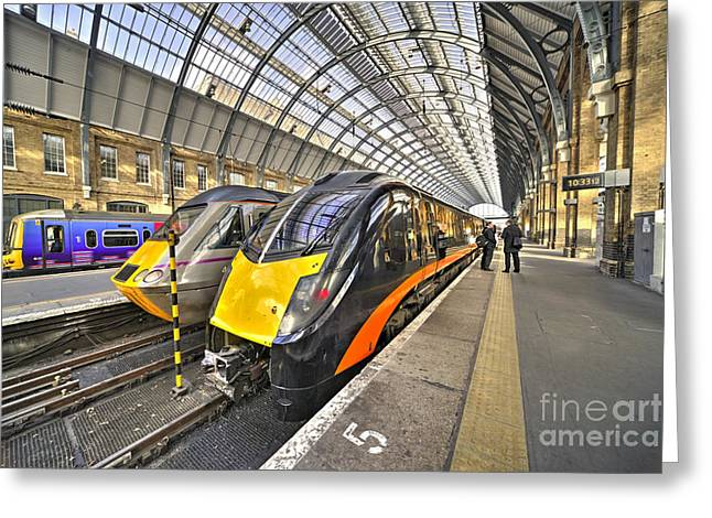 Three Speed Greeting Cards - Kings Cross variety  Greeting Card by Rob Hawkins